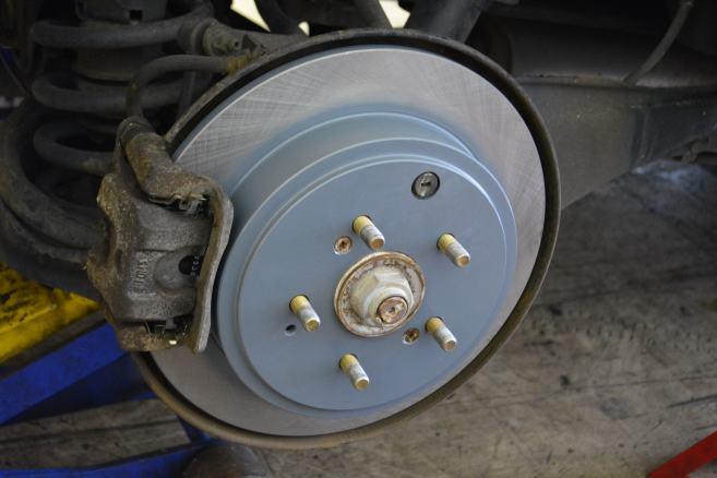 New brakes coated rotors.