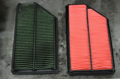 Air filter replacement.